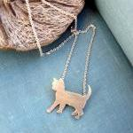Sterling Silver Cat Neckla..